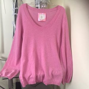 Old Navy 100% Cashmere Sweater puff Sleeves Cowl